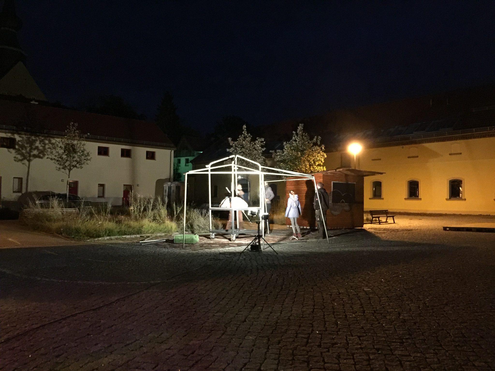 Markt der Möglichkeiten – Aufbau bis in den späten Abend