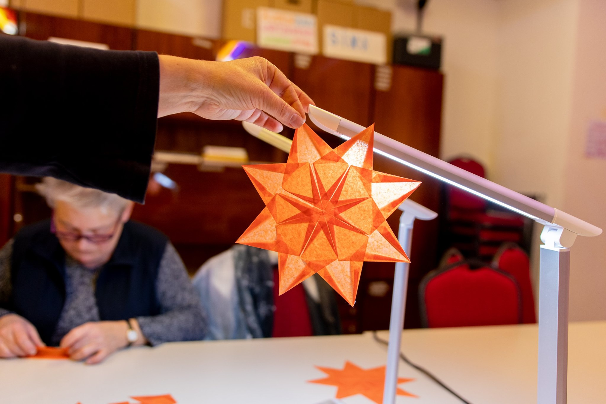 Sterne für den Ritterguts-Adventskalender
