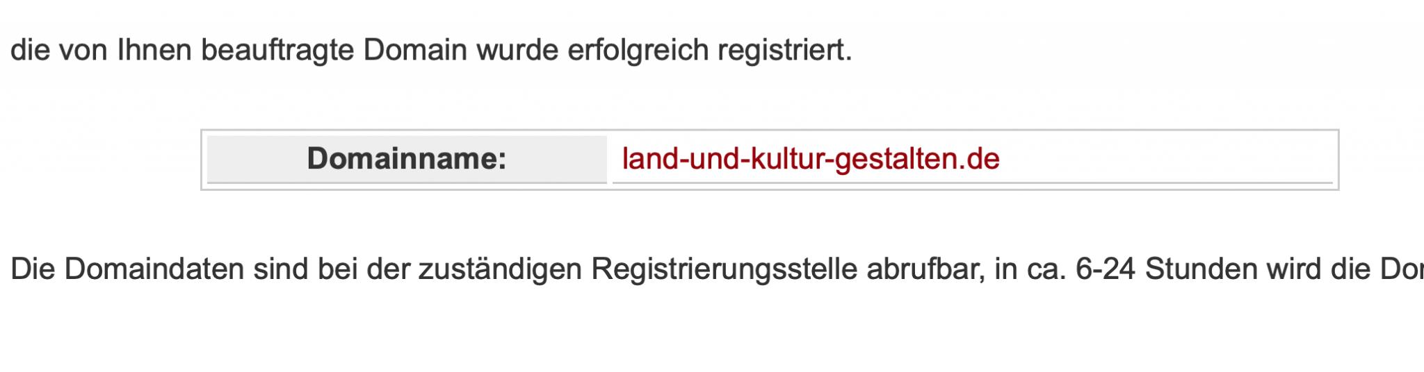 Domain Reserviert
