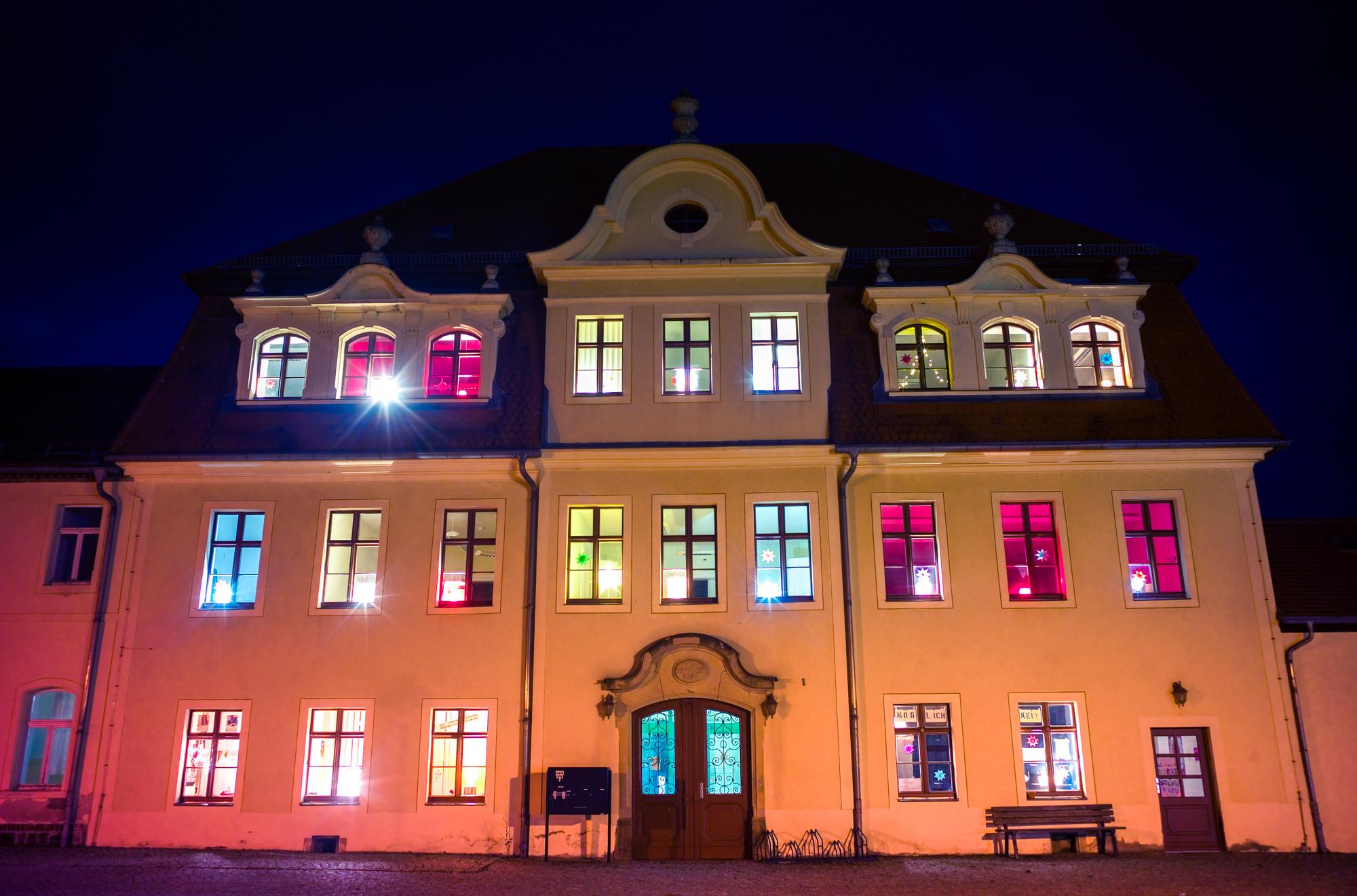 Das Rittergut Raußlitz, der leuchtende Adventskalender